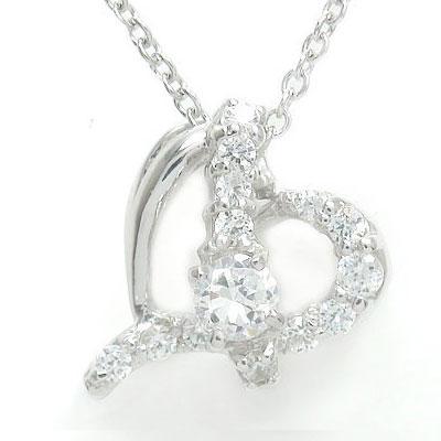 【送料無料】ハート ダイヤモンド 流れ星 ネックレス 18金 ペンダント チャーム ゴールド GOLD プレゼント ギフト 母の日 4月 誕生石 流れ星 オープンハートネックレス 18金 ダイヤモンド