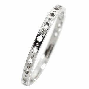 エタニティーリング ひし形 プラチナ900 ダイヤモンド ピンキーリング 指輪【送料無料】 指輪 プラチナ900 ひし形 エタニティーリング ピンキー