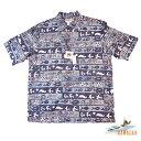 【カハラのアロハシャツ】 本物のメイドインハワイアロハブランド 大きめハワイサイズのXL