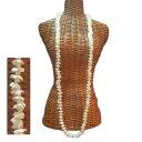 ハワイアン レイ フラ フラダンス衣装 フラワーレイ 定番で重ねてもつけられる ピカケロングレイ オフホワイト