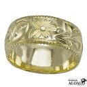 ショッピング重 ハワイアンジュエリー リング 指輪 オーダーメイド 重厚な立体感2mm厚 幅8mm 14K ゴールド グリーンゴールド バレルリング ハワイ製 手彫りリング メンズ レディース 結婚指輪 マリッジリング ウェディングリング 2号-28号