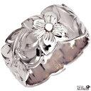ハワイアンジュエリー リング 指輪 オーダーメイド 1.75mm厚 幅10mm バレルリング メンズ レディース シルバー925 ハワイ製 手彫りリング 0号-28号