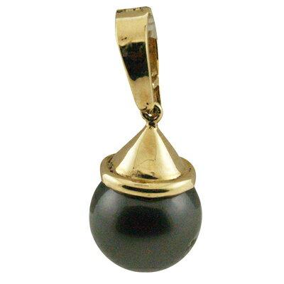 タヒチアンパール 黒真珠 ランクAAA 14kシンプルスタイルブラックパールトップ タヒチアンブラックパールをハワイアン価格で!