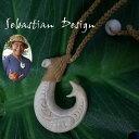 フィッシュフック ハワイアンジュエリーSebastian Design 1点モノフック S ハワイの伝統的貴重な素材の骨
