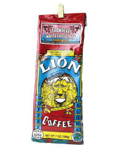 5000円以上で送料無料!ライオンコーヒー ストロベリーホワイトチョコ 7oz(198g)