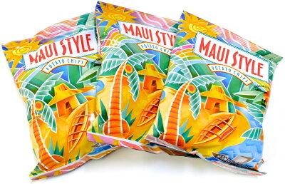 芸能人にも大人気のハワイのポテトチップス!マウイスタイルポテトチップス1袋35.4g※塩味とマウイオニオンのどちらかの種類をお選びください♪