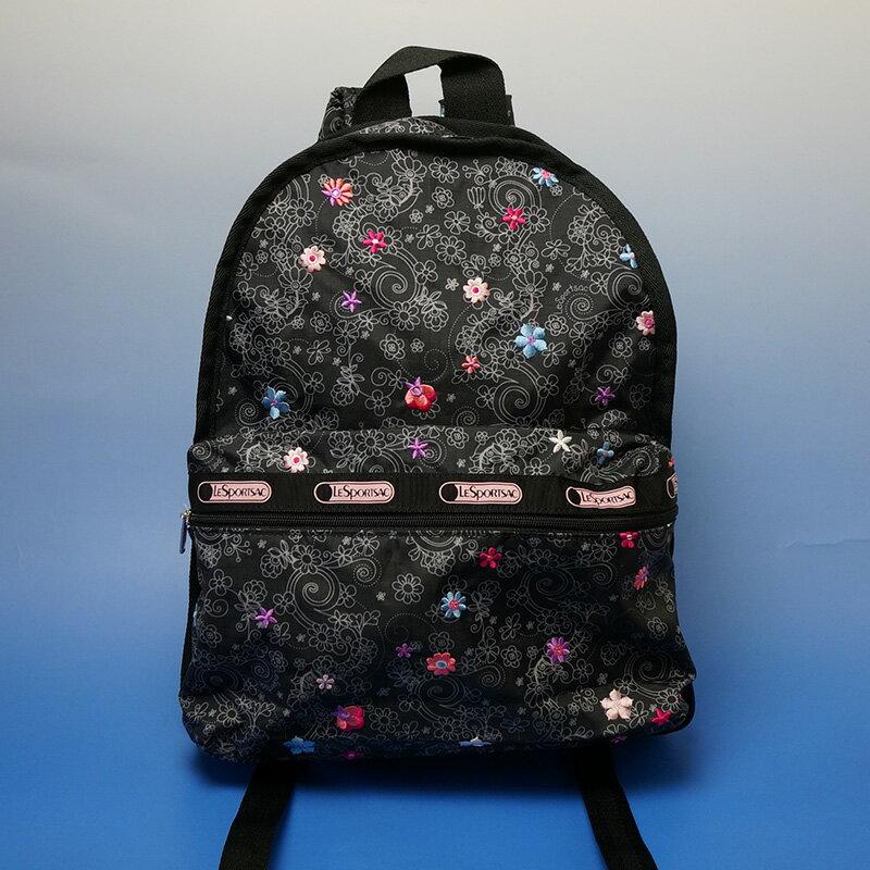 レスポートサック ハワイ限定 ルプティブーケ ベーシックバッグパック刺繍を施した特殊プリント! Lesportsac