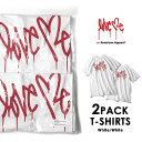 Love me ラブミー 2PACK Tシャツ (White×2) on American Apparel カーティス・クーリグ アメリカンアパレル 【SPS03】