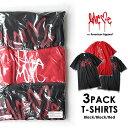 【25日は全品P5〜10倍】アメアパ Love me ラブミー 3PACK Tシャツ (Black×2 Red×1) on American Apparel カーティス・クーリグ アメリカンアパレル 【SPS09】