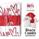 Love me ラブミー 3PACK Tシャツ (White×2 Red×1) on American Apparel カーティス・クーリグ アメリカンアパレル