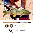 TENKARA ROD Co / テンカラロッド GRANT TETON Package(13.5フィート)【淡水竿】渓流 テンカラ 竿 ロッド フライ 毛鉤 釣竿 セット ケース 初心者 釣り竿
