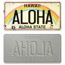 【ハワイ ライセンスプレート・ナンバープレート】おしゃれなヴィンテージ風デザイン<ALOHA>インテリア・壁飾り ・ディスプレイ・看板・デコレーション・お土産
