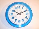 アメリカンデザインのポップな【掛け時計】 壁掛け時計/ウォールクロック 色:クリアブルー/グリーン /ホワイトハワイアンインテリア