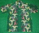 ショッピングアロハシャツ アロハシャツ|AVANTI SILK(アヴァンティ シルク)|A1069GRN|半袖|メンズ|洋柄|グリーン(緑)|花・フラワー柄|葉・リーフ柄|ハワイアン|リゾート|ボーダーパターン|シルク100%|開襟(オープンカラー)|送料無料商品