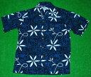 アロハシャツ|AVANTI SILK(アヴァンティ シルク)|A833B|半袖|メンズ|ブルー(青・紺色)|エルビス・プレスリー|ブルーハワイ|レーヨン100%|開襟(オープンカラー)|送料無料商品
