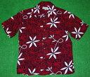 アロハシャツ|AVANTI SILK(アヴァンティ シルク)|A833R|半袖|メンズ|レッド(赤・
