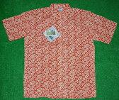 アロハシャツ REYN SPOONER(レインスプーナー) RS239 半袖 メンズ オレンジ 小花柄 ツートン コットン60%ポリ40%(スプーナークロス) 裏生地仕様 ボタンダウン(プルオーバー) 送料無料商品(10P09Jul16)