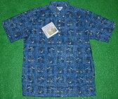 アロハシャツ REYN SPOONER(レインスプーナー) RS258 半袖 メンズ ネイビー(紺色) ブラック(黒) ベージュ(肌色) キルト調(鳥・リーフ) コットン60%ポリ40%(スプーナークロス) 裏生地仕様 ボタンダウン(プルオーバー) 送料無料商品(10P09Jul16)