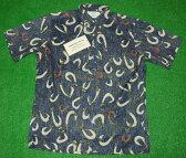 アロハシャツ REYN SPOONER(レインスプーナー) RS372 半袖 メンズ FISHHOOKS ネイビー(紺) フィッシュフック 釣り針 ボーンフック コットン55%ポリ45%(スプーナークロス) 裏生地仕様 ボタンダウン(プルオーバー) 送料無料商品(10P09Jul16)