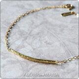 ハワイアンジュエリー ブレスレット K18 GOLD 手元に優しいカーヴ描く ジェントルウェーブ abr1178 【楽ギフ包装】
