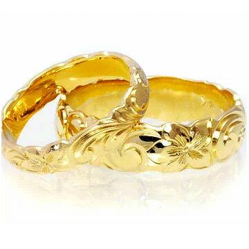 マリッジリング 結婚指輪 ハワイアンジュエリー リング レディース メンズ  (Weliana) ONLY ONE ペアリング ゴールドリング バレル カットアウト ペア セット(幅4mm・6mm・8mm)cdr022ctpair オーダーメイド ハンドメイド ハワイアンジュエリー 結婚指輪 オーダーメイドリング マリッジリング ペアリング  美しい波模様が人気の秘密【記念日にふさわしいオーダーメイドリング】
