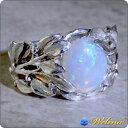 ホワイトオパール ブルームーンストーン リング 指輪