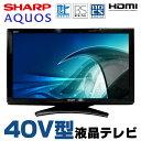 【中古】 SHARP AQUOS LC-40E9 40V型 液晶テレビ ブラック 地上デジタル BSデジタル 110度CSデジタル HDMI リモコン・B-CASカード付属
