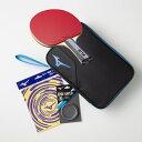 ミズノ テクニックス スターターセット 2020年モデル TECHNIX ブラック/ブルー 83JTT09027 卓球 ラケット 競技用 貼り上りラケット ラバー 貼上 MIZUNO