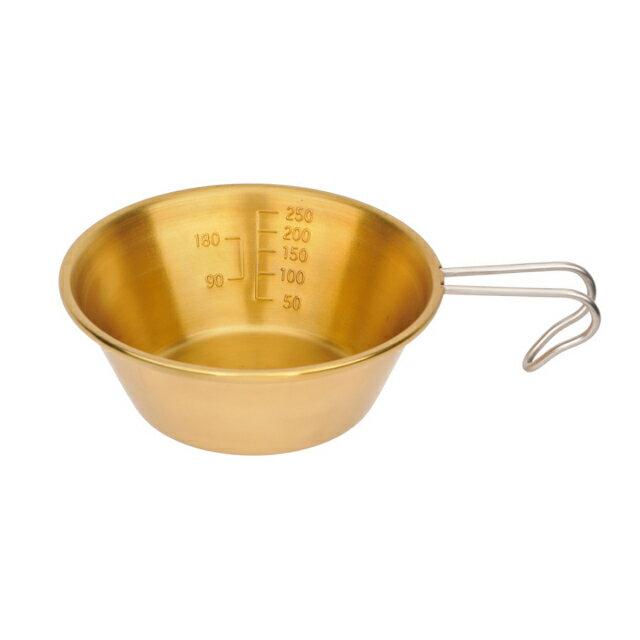 真鍮製シェラスタッキングカップ320ml(キャプテンスタッグ)