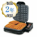 シェフズチョイス ワッフルメーカー 4枚焼Chef's Choice M850 Taste-Texture Select WafflePro Belgian Waffle Maker 家電