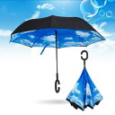 ╡╒д╡╗▒ еле╡ └▓▒л╖є═╤ ╗ч│░└■еле├е╚NEWBRELLAs Unique Inverted Drip Free Vehicle Reflective Strip Safety Car Umbrella - Anti-uv Sun And Rain Umbrella