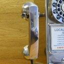 アメリカ クロスリー レトロ公衆電話 クロム 受話器 CROSLEY RADIO replacement handset for CR56-BC 1950s Classic Pay Phone Brushed Chrome