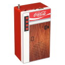 コカコーラ 自動販売機型 充電式 ポータブル Bluetoothスピーカー ラジオ付き Coca Cola Retro Style Bluetooth Speaker and FM Radio - Vending Machine Design