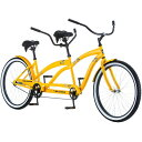 タンデム 自転車 二人乗り 26インチ ビーチクルーザーバイク Kulana L