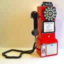 アメリカ クロスリー1950年代 レトロ壁掛け電話 公衆電話Crosley CR56 1950s Wall Pay Phone
