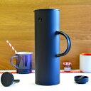 ステルトン クラシックジャグ バキュームジャグ 水差し 水筒 ソフトブラック マットブラック 1L Stelton Vacuum Jug, 1 Liter SoftBlac..
