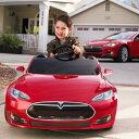 【代引不可】【組立要】 テスラ 子供用電気自動車Tesla model S for kids