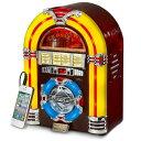 クロスリー ジュークボックス CD プレーヤー LED 照明 チェリーCrosley CR1101A-CH Jukebox with CD Player and LED Lighting, Cherry【smtb-k】【kb】 【RCP】