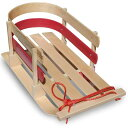 е╜еъ евеже╚е╔ев Flexible Flyer Baby Pull Sled. Wood Toddler To-Boggan. Wooden Sleigh for Kids