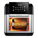 ノンフライヤー ロティサリー オーブン ディハイドレーター Innsky Air Fryer, 10.6-Quarts Toaster Oven, Rotisserie Oven, 1500W Electric Air Fryer Oven with LED Digital Touchscreen, 10-in-1 Countertop Oven 家電