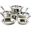екб╝еыепеще├е╔ ╞╝ е│е├е╤б╝ е╒ещеде╤еє ╞щ 10┼└е╗е├е╚ All-Clad Copper Core 10-Piece Cookware Set 600822SS