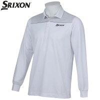 ダンロップ スリクソン DUNLOP SRIXON ゴルフ メンズ 長袖 ボタン シャツ シャツ SRM1027S WHT ホワイト 17ssczの画像