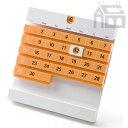 ショッピング卓上カレンダー 【メール便発送】アクトワークス DateBlock デートブロック オレンジ  卓上カレンダー