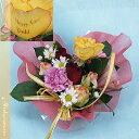 季節の花のハート型フラワー・ケーキ【クイックお届け】 プリ花】