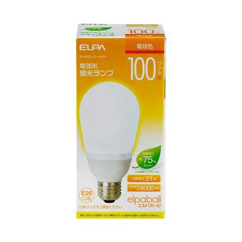 【売切れ御免】電球形蛍光灯 100Wタイプ E26 電球色 A型 EFA25EL/21-A102H ELPA