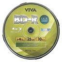 BD-R データ&デジタルハイビジョン録画対応 25GB 10枚 1-4倍速 VR4-10P スピンドル ホワイトワイドプリンタブル