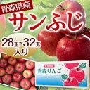 【数量限定!】青森県産 サンふじ りんご 28玉〜32玉 送料無料