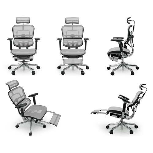 オフィスチェア 「エルゴヒューマンプロ オットマン」ホワイト EHP-LPL KM-16WH※ 【毎日全品ポイント5倍】「エルゴヒューマンプロ」のオットマン内蔵モデルです♪ 肘付タイプ 高機能チェア オフィスチェア オフィス家具 家具 イス