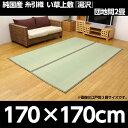 純国産 糸引織 い草上敷 『湯沢』 団地間2畳(約170×170cm)【代引不可】