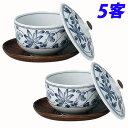 鉄仙蓋付煎茶 5客
